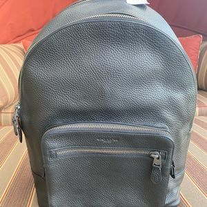 Coach Black Leather Large Backpack